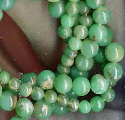 Heilstein Rötungen und Schwellungen: Natürliche grüne Chrysocroll-Perlen