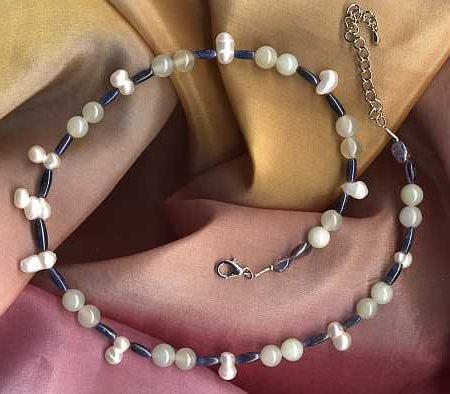 Heilsteine Kopfschmerzen: Perle Blauquarz